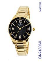 Relógio Champion Elegance CN24306U Quartz Pulseira Aço Dourado -