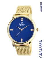 Relógio Champion Elegance CN24388A Quartz pulseira aço Mesh Dourado -