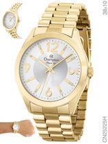Relógio Champion Elegance CN25225H Quartz Pulseira Aço Dourado -