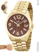 Relógio Champion Elegance CN25225O Quartz Pulseira Aço Dourado -