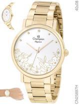 Relógio Champion Elegance CN25887H Quartz Pulseira Aço Dourado -