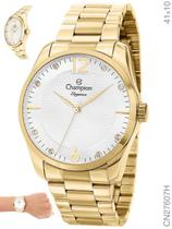 Relógio Champion Elegance CN27607H Quartz Pulseira Aço Dourado -