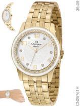 Relógio Champion Elegance Feminino CN25761H Quartz Dourado -
