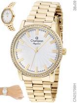 Relógio Champion Elegance Feminino CN25798H Quartz Dourado -