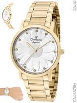 Relógio Champion Elegance Feminino CN25878H Quartz Dourado -