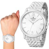 Relógio Champion Elegance Feminino Prata Cn27787q -