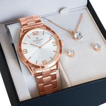 Relógio Champion Feminino Analógico Rosê CN29893E -