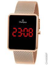 Relógio Champion Feminino Digital Quadrado Rosé CH40080P -