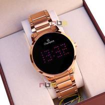 Relógio Champion Feminino Digital Rosê Led Rosa  CH40035H Prova DAgua Garantia de Um ano -