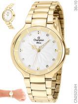 Relógio Champion Feminino Diva CN25234H Quartz Dourado -