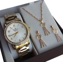 Relógio champion feminino Dourado cn28875w -
