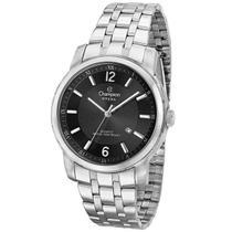 Relógio Champion Masculino Analógico Prata Fundo Preto Steel CA21606T -