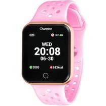 Relógio Champion Smart Bluetooth 4.0 Rosé Pulseira Rosa CH50006R Smartwatch -