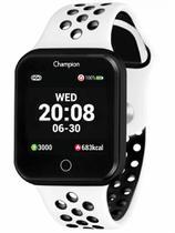 Relógio Champion Smartwatch Bluetooth 4.0 Preto com Pulaseira branca CH50006K -