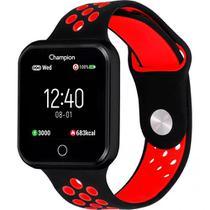 Relógio Champion Smartwatch Bluetooth 4.0 Preto/vermelho Ch50006 -