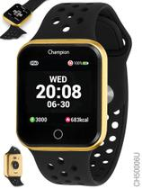 Relógio Champion Smartwatch Preto e Dourado Bluetooth 4.0 CH50006U -