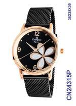 Relógio Champion Social CN24315P Quartz pulseira aço Mesh Preta -