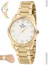 Relógio Champion Social Feminino CN25958H Quartz Dourado -