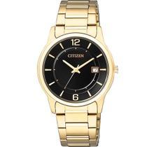 Relógio Citizen Feminino Dourado Quartz TZ28119U Analógico 3 Atm Cristal Mineral Tamanho Médio -