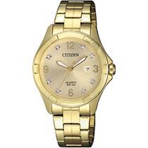1d1305ba3a7 Relógio Citizen Feminino Ref  Tz28502g Social Dourado