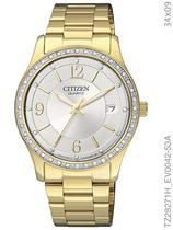 Relógio Citizen Quartz Feminino TZ28271H/EV0042-53A Pulseira de Aço Dourado -