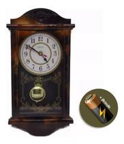 Relógio Com Pêndulo Retrô Modelo Antigo De Parede - Maisdivas