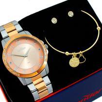 Relógio condor feminino prata / rose co2035moq/k5j -