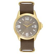 Relógio Condor Masculino Casual Couro Dourado - CO2115KSO/2C -