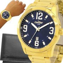 Relógio Condor Masculino Dourado Original com garantia de 1 ano e carteira -