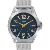 Relógio Condor Masculino Prata CO2035KYL/3A Analógico 5 Atm Cristal Mineral Tamanho Médio -