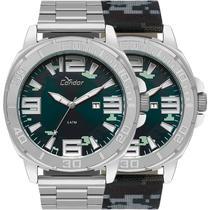 Relógio Condor Masculino Prata Troca Pulseira CO2115KUA/T3A -