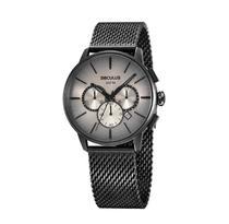 Relógio Cronógrafo Malha De Aço Preto Seculus 13038GPSVPA3 -