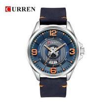 Relógio Curren 8305 Original De Luxo Com Calendário De Couro -