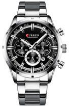 Relógio Curren 8355 Prata -