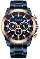 Relógio Curren 8361 Azul -