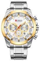 Relógio Curren 8361 Prata e Dourado -