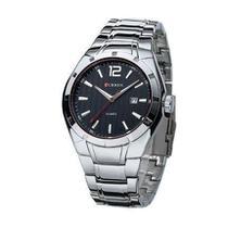 Relógio Curren Analógico 8103 Prata/preto -