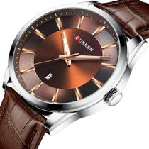 Relógio curren importado modelo 8365 marrom -