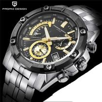 Relógio De Aço Pagani Design Cronômetro Regressivo Pd-3311 -