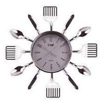 Relógio De Cozinha Talheres Espatulas Para Parede, 25,5x25.5x3,6 - Susan