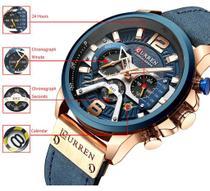 Relógio De Luxo Curren Original Cronógrafo Quartzo Militar -