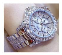 Relógio De Luxo Feminino Com Strass Dzg -