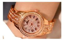 Relógio De Luxo Feminino Strass Bee Sister ZDJ0032/ FA1501 -