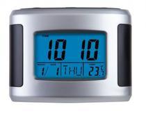 Relógio De Mesa Despertador Digital C/ Termômetro Calendário Ref 2979 - ( 1 Ano De Garantia - Herweg