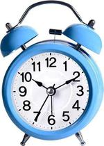 Relógio de Mesa Despertador Retrô 8.8x5x12.5cm Azul - Imporiente