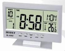 Relógio De Mesa Digital Com Despertador Temperatura Calendário E Luz De Fundo 8082 Prata - Jiaxi Oksn