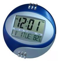 Relógio de mesa e parede digital 20x20cm data temperatura - Moure Jar