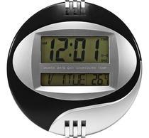 Relógio De Mesa E Parede Digital 27 X 27cm Data Hora Tempera - Kenko