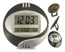 Relógio De Mesa E Parede Digital 27 X 27cm Data Hora Tempera - Lelong / Kenko