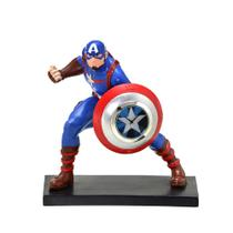 Relógio de Mesa Marvel Capitão América 13,5x9,5x14,5cm -